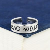 Bad Wolf - Doctor Who - Adjustable Aluminum Ring