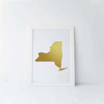 NEW YORK, New York Map Gold Foil,Gold Print,printable Art,State,Map Of New York Gold Color,Gold Art,I Love Gold,Inspire,Home Decor,Instant