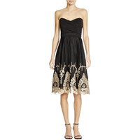 TFNC London Womens Embroidered Boning Semi-Formal Dress