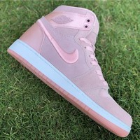 Air Jordan 1 Retro High GS WMNS Satin Pink AJ1 Sneakers - Best Deal Online