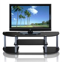 Contemporary Grey & Black TV Stand - Fits up to 42-inch TV