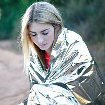 VONL8T Outdoor Camping and hiking Safety First Aid PET film emergency blanket life-saving blanket insulation blanket