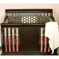Cotton Tale 4-pc. Raspberry Dot Crib Bedding Set