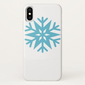 Snowflake iPhone X Case