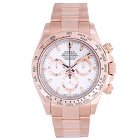 Rolex Rose Gold Cosmograph Daytona Wristwatch Ref 116505