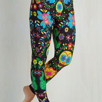 Vintage Inspired Skinny Flash Mob Fab Leggings by ModCloth