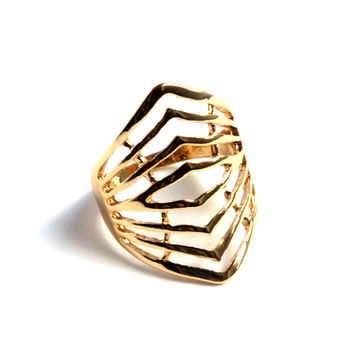 """Clean Lines"" Gold Ring"