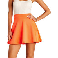 NEON HIGH-WAISTED SKATER SKIRT