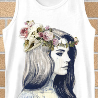 Popular tank top lana del rey tattoed,tank top mens,Tank top Woman,tank top girl Available for size S,M,L,XL,XXL Black and White