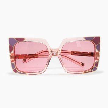 Sun & Shade Sunglasses - Pink/Rose Gold/Pink Lenses