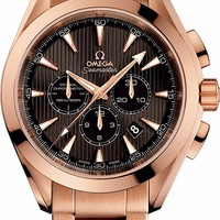 Omega Seamaster Aqua Terra Red Gold Chronograph Mens Watch 231.50.44.50.06.001