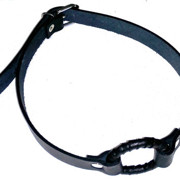 Leather Wrapped O-Ring Gag