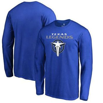 Licensed Sports Texas Legends Fanatics Branded Primary Logo Long Sleeve T-Shirt - Royal KO_20_2