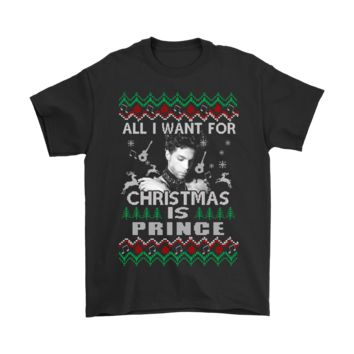 QIYIF All I Want For Christmas Is Prince Rogers Nelson Shirts