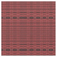 Red Black Wire Shape Pattern Fabric