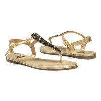 Gold Beaded Janice Sandal - Women