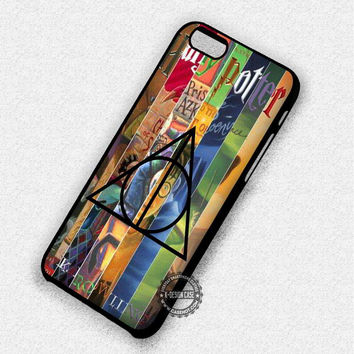 All Books With Symbol Harry Potter Deathly Hallows - iPhone 7 6 5 SE Cases & Covers