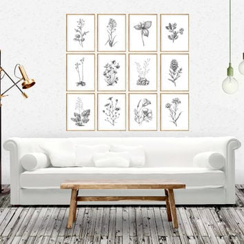 Botanical print botanical art botanical print set botanical c