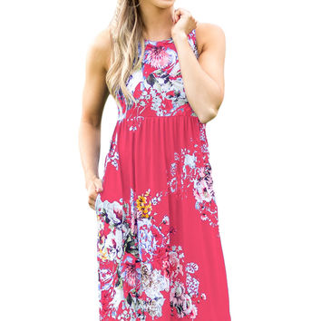 Fall In Love With Floral Print Boho Dress In Rosy LAVELIQ