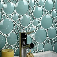 Amazing Bathroom Glass Tile Backsplash Collections from Evit