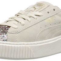 PUMA Women's Suede Crushed Gem Platform