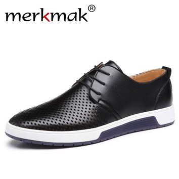 Casual Shoes Leather Breathable Holes Luxury