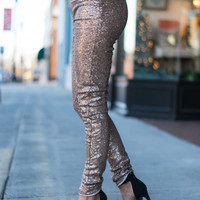 Show Stopper Skinny Pants, Gold