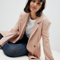 ASOS WHITE Check Blazer at asos.com