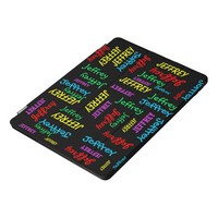 Repeating Names, Colorful, Personalized FUN iPad Pro Cover
