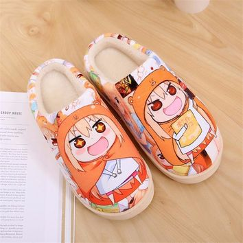 Japanese Anime Himouto Umaru-chan Umaru Doma Cute Indoor Slippers Warm Soft Shoes Plush Antiskid Home