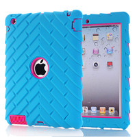 For Apple ipad  2/3/4 Case Covers Luxury Shockproof Heavy Duty Silicone Hard Cases for Ipad 4 for Kids Girls  Protective Cover