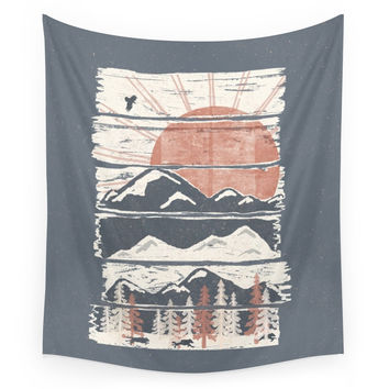 Society6 Winter Pursuits... Wall Tapestry