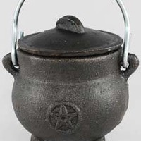Pentagram Cast Iron Cauldron 3""