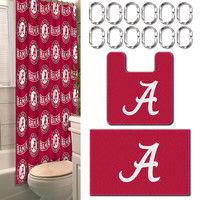 Alabama Crimson Tide NCAA 15-Piece Bath Set