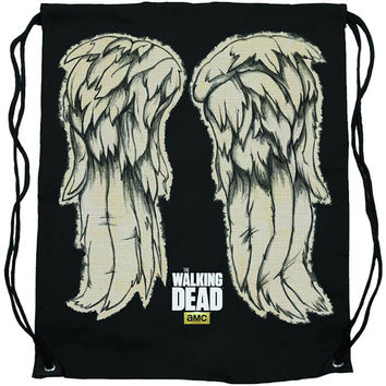 The Walking Dead Daryl Wings Cinch Bag Backpack New Licensed