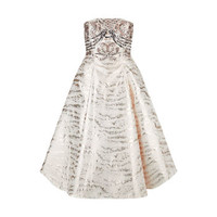 Tucana Metallic Ivory Cocktail Dress