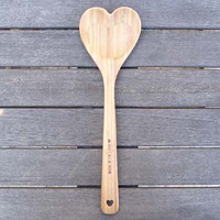 Wooden Heart Spoon