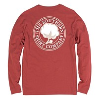 Signature Logo Long Sleeve Tee in Tandori Spice by The Southern Shirt Co. - FINAL SALE