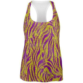 CREYCY8 Mardi Gras Cajun Tiger Costume All Over Womens Work Out Tank Top
