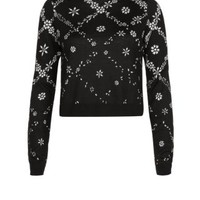 New Look Mobile | Black Floral Print Jumper