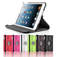 iPAD 2G 3G 4G Mini - 360 Rotating Multi Functional Case Stand Folio Cover - PU Leather - Supreme Quality and Craftmanship