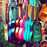 las guitarras Stretched Canvas | Print Shop