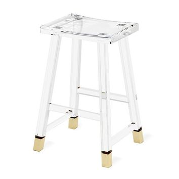 Reva Counter Stool in Brass