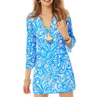 Lilly Pulitzer Jade Crochet V-Neck Tunic Dress