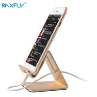 RAXFLY Universal Aluminum Metal Phone Stand Holder For iPhone 6 6s 7 Tablet Desk Phone Holder Stands For iPad Smartphone Support