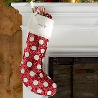Red Dottie Sequin Stocking
