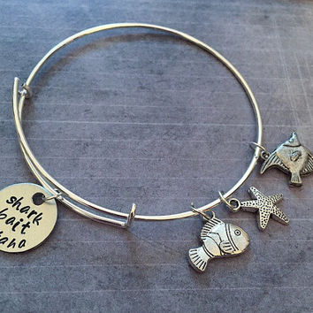 Shark Bait Ooh Ha Ha Expandable Bracelet FITS WRIST SIZE 7.0 to 8.5 inches - Fairytale Jewelry- Nemo Jewelry - Just Keep Swimming