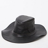 lack of color The Onyx Leather Fedora Hat at PacSun.com