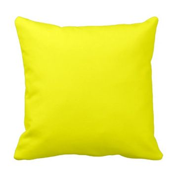 Bright Yellow Accent Decorative Throw Sofa Pillows
