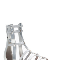 Bamboo Silver Ankle Gladiator Sandals